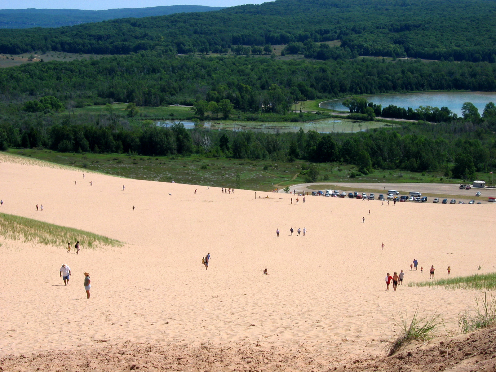 Looking down from the Climbing Dune